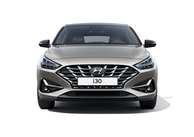 The new Hyundai i30 pictured from the front, showing its bold design.